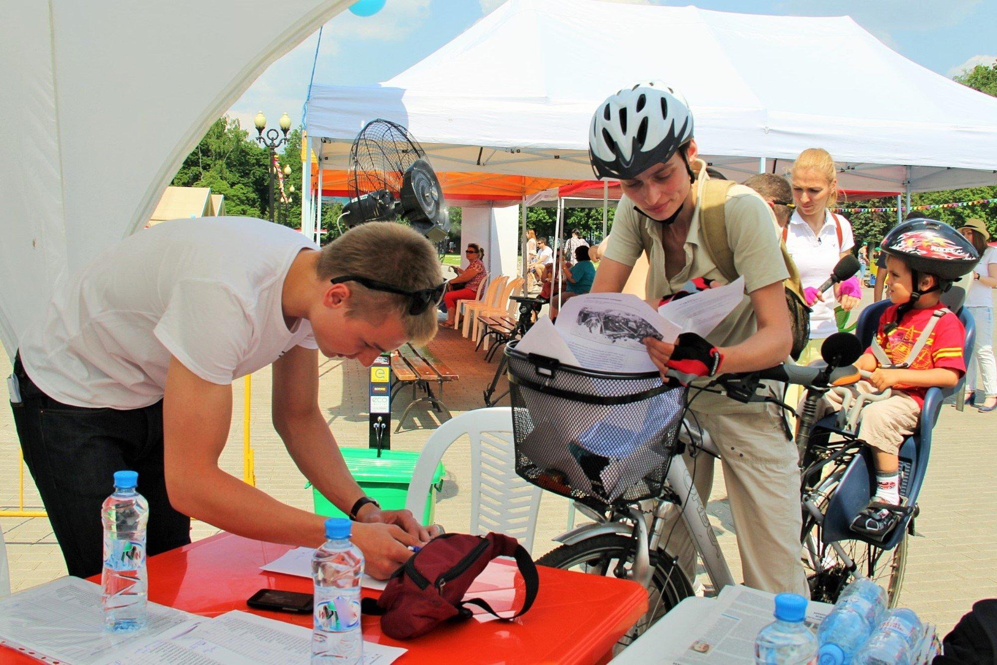 Велофлешмоб «Велосипед лучше сигарет!» 2016