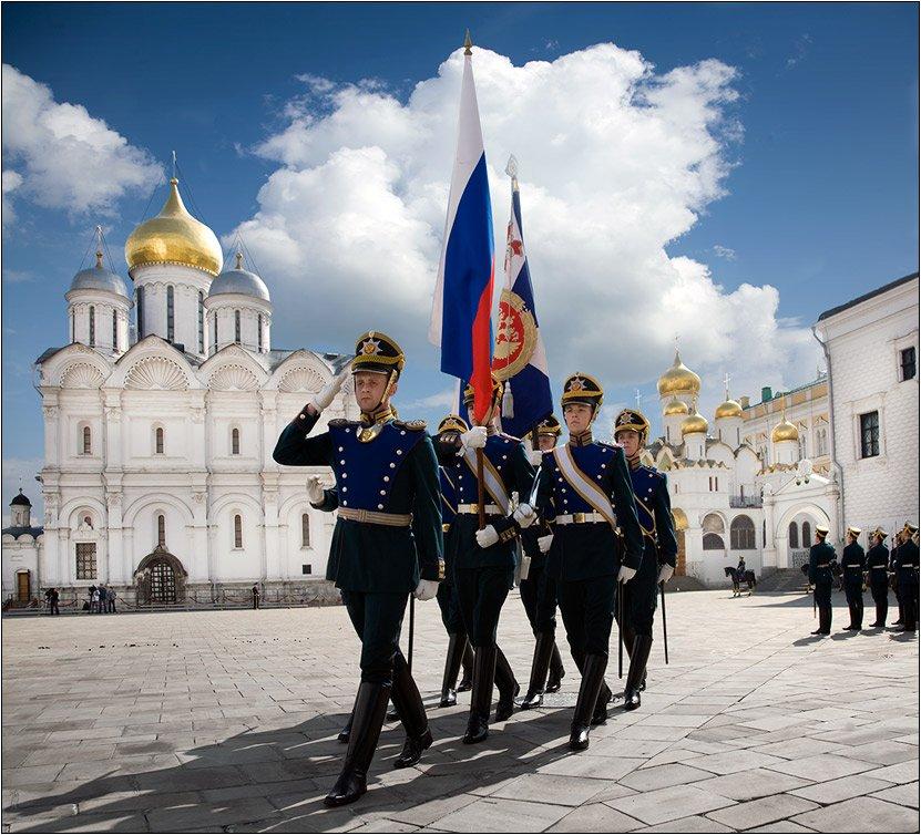 Развод конных ипеших караулов Президентского полка 2016