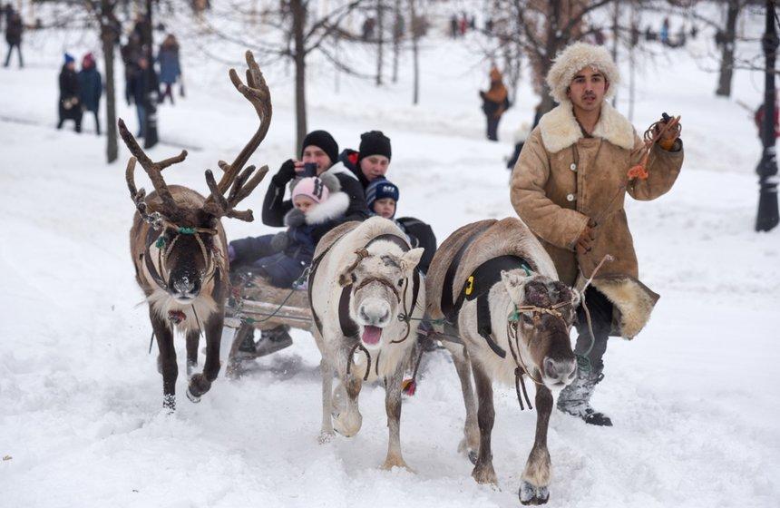 Рождество впарках Москвы 2020