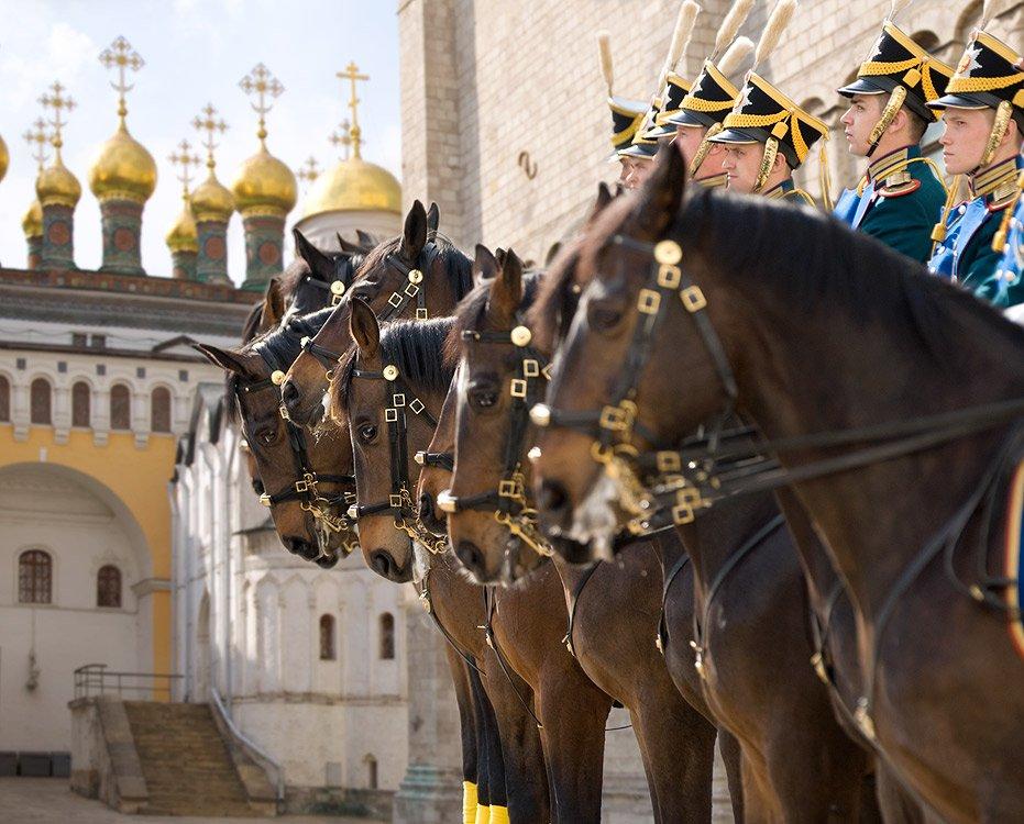Развод конных ипеших караулов Президентского полка 2018