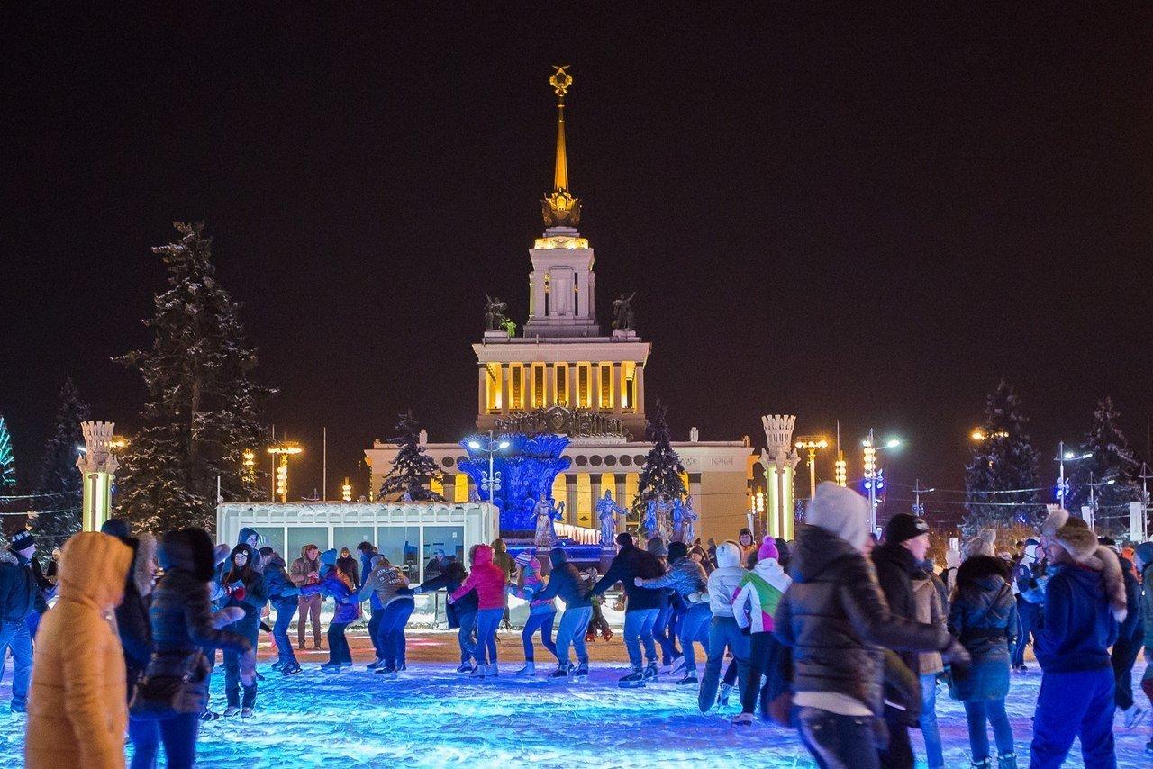 Новогодняя ночь 2016 накатке ВДНХ