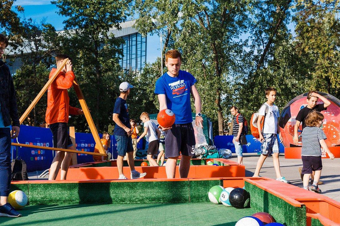Футбольные аттракционы наВДНХ 2018