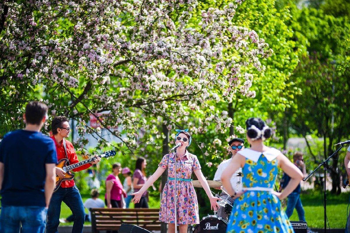 Открытие летнего сезона впарках Москвы 2017