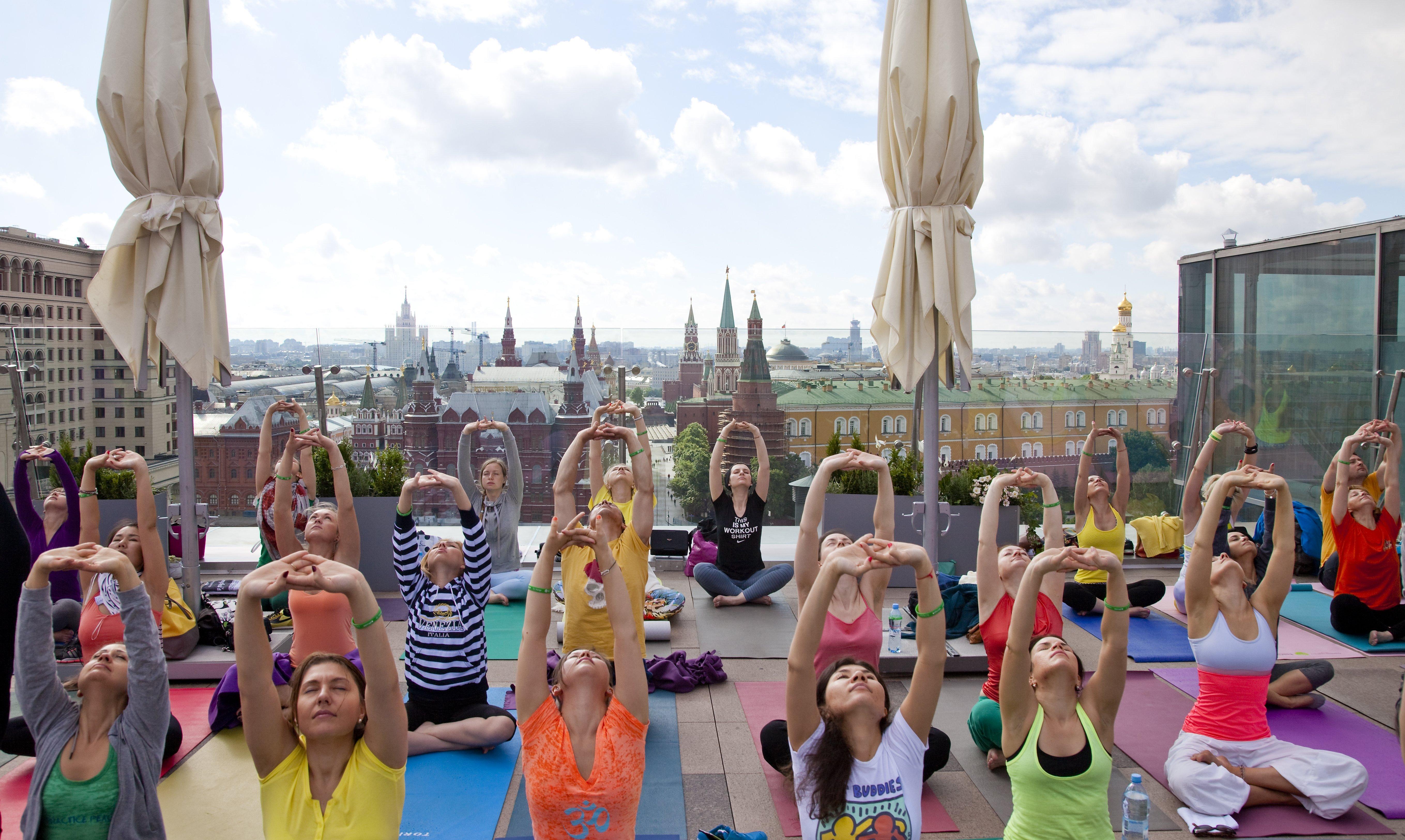 Международный день йоги вМоскве