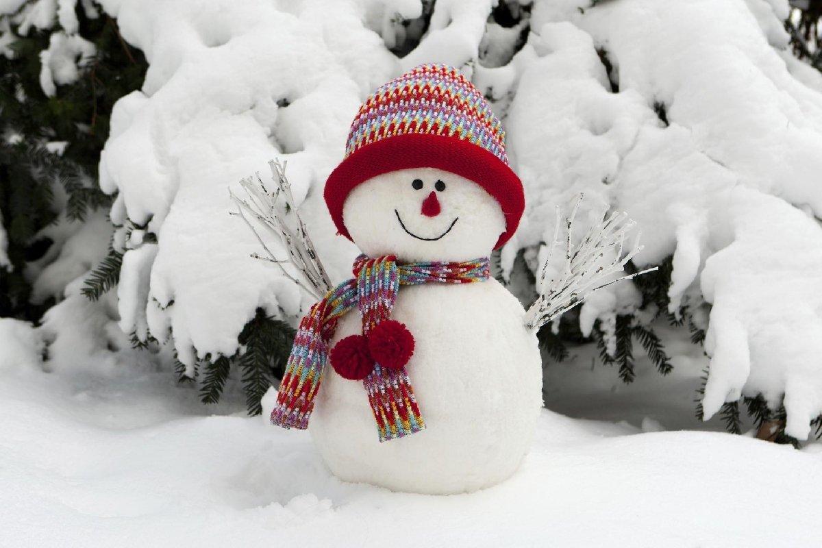 Картинки зимы снеговики