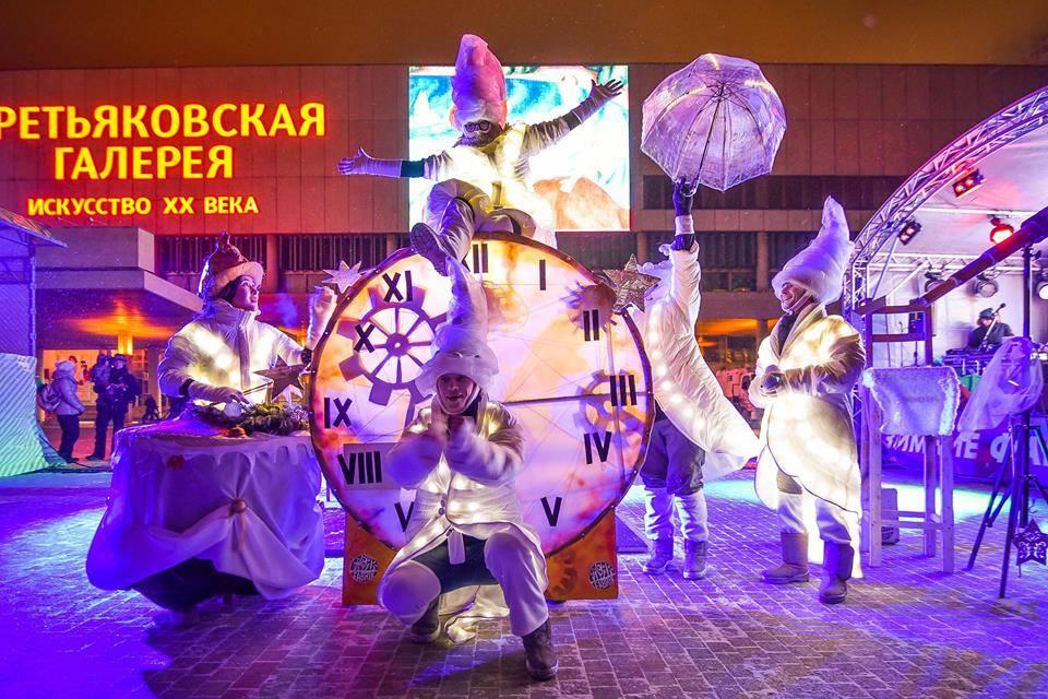 Новый год 2017 впарках Москвы