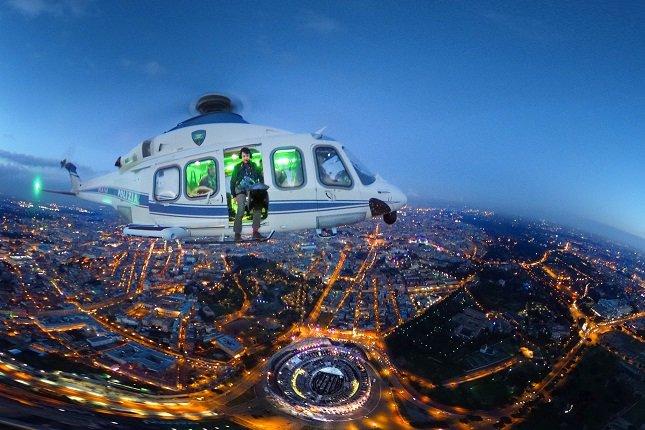 Выставка «Горизонты Италии. Вид изполицейских вертолетов»