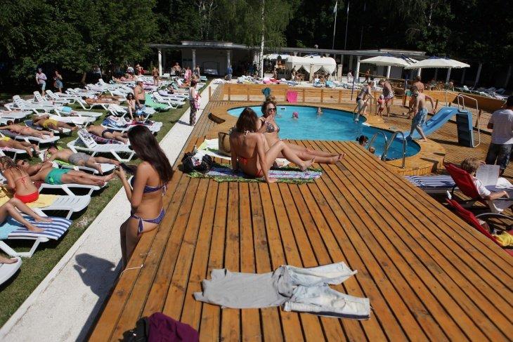 Места для пляжного отдыха в Москве 2015