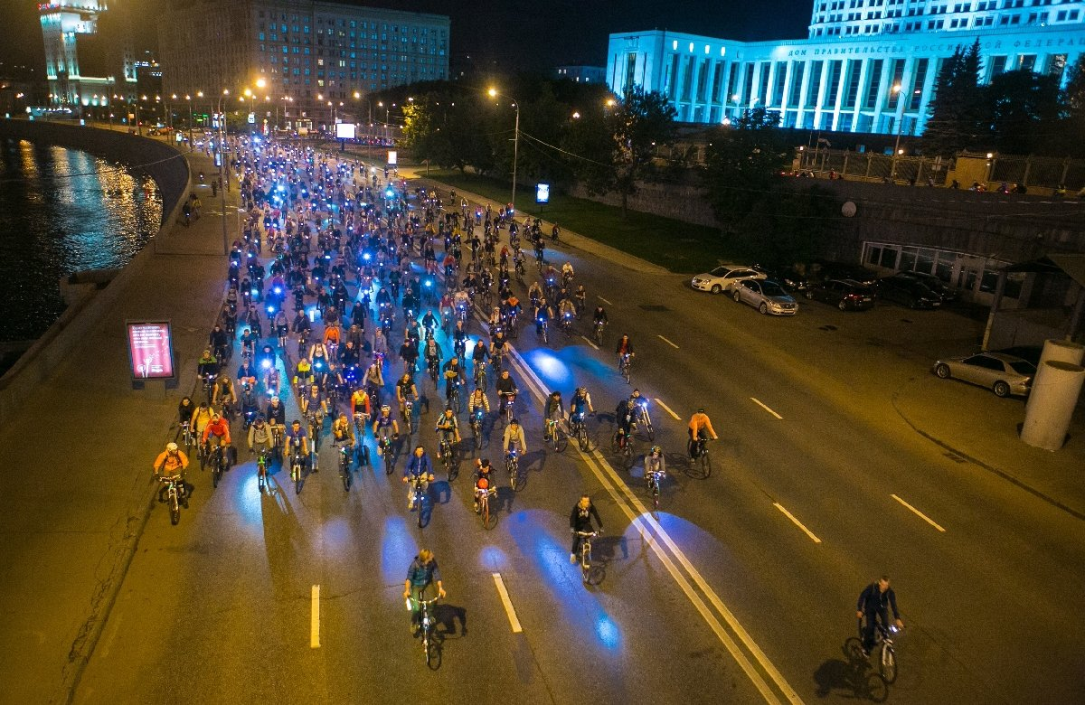 Ночной московский велопарад2018