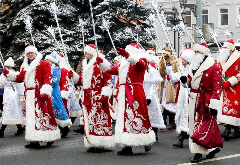 Флэшмоб Дедов Морозов