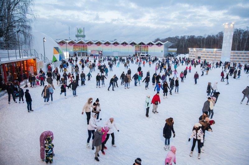 Церемония открытия зимнего сезона впарке «Сокольники» 2015
