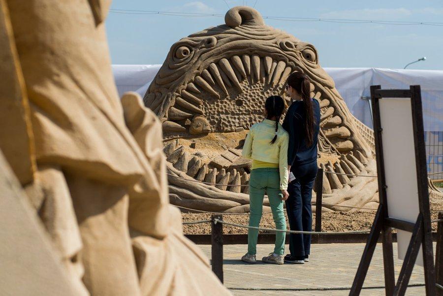 Выставка скульптур изпеска вКоломенском 2017