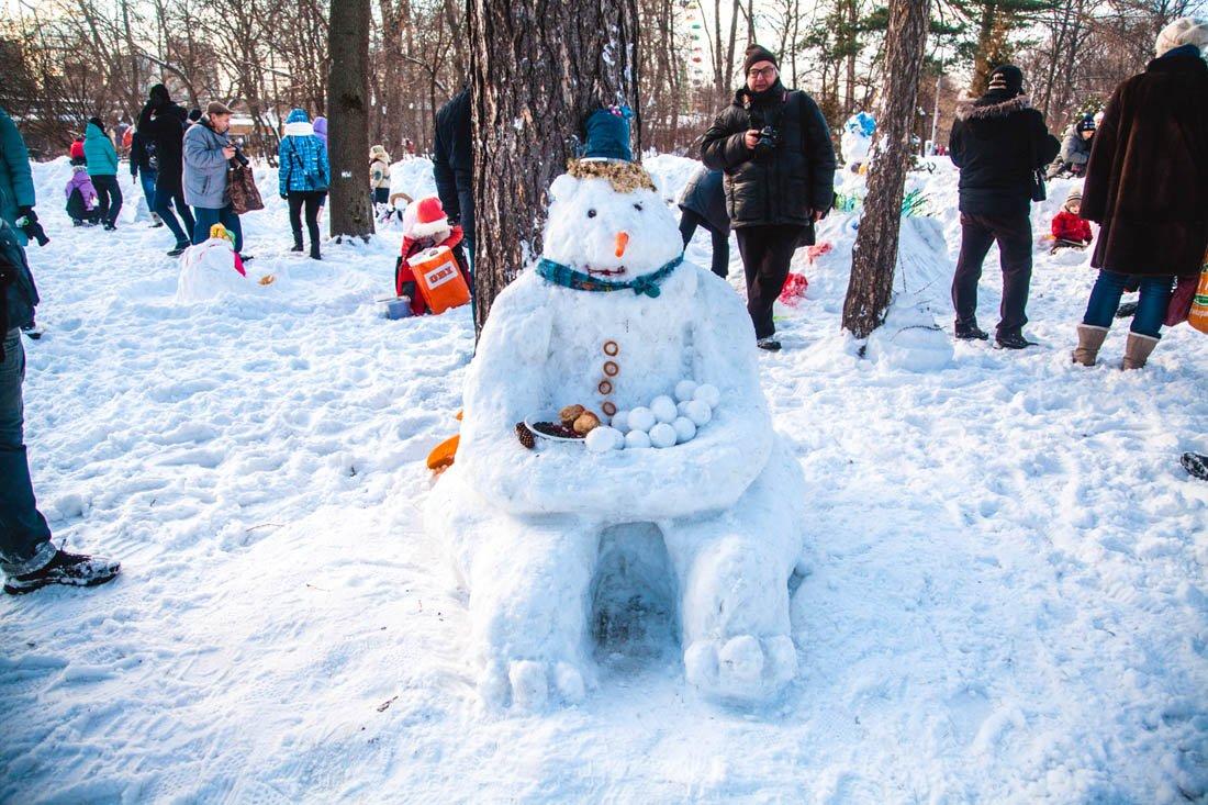 «Фестиваль снеговиков» впарке «Сокольники» 2018