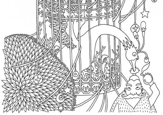 Выставка «Иллюстрации кграфическому роману оСером Волке»