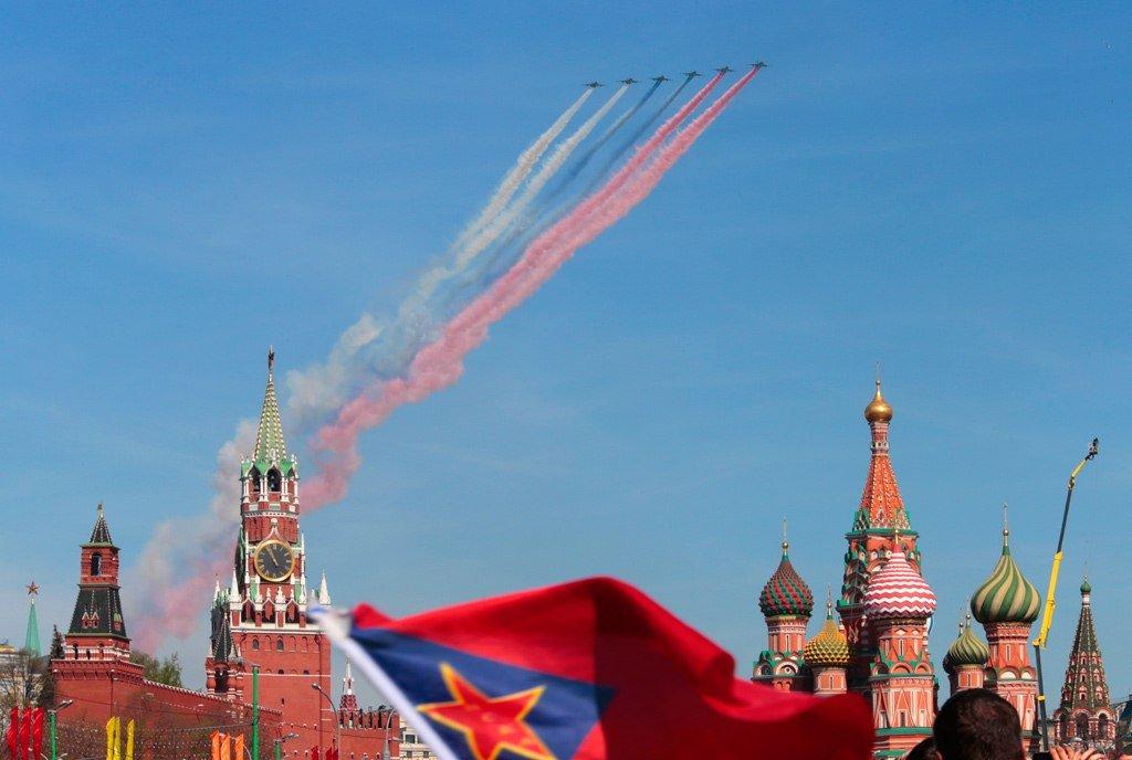 Празднование Дня Победы вМоскве 2017