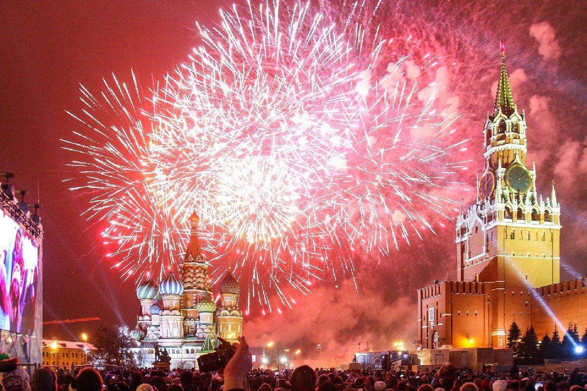 Новогодняя ночь 2018 вМоскве